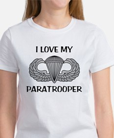 I love my paratrooper - jump wings Women's T-Shirt