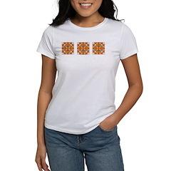 Orange Owls Design Women's T-Shirt