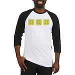 Yellow Owls Design Baseball Jersey