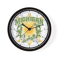 Go Solar Michigan Wall Clock