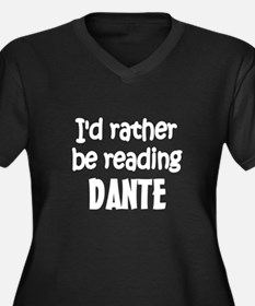 Dante Women's Plus Size V-Neck Dark T-Shirt