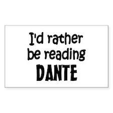 Dante Rectangle Decal
