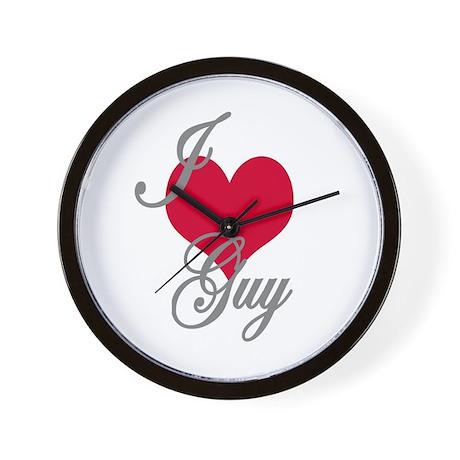 I love (heart) Guy Wall Clock