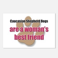 Caucasian Shepherd Dogs woman's best friend Postca