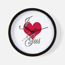 I love (heart) Gus Wall Clock