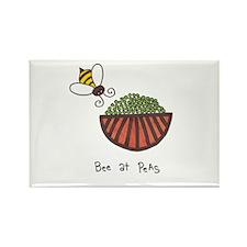 Unique Bee art Rectangle Magnet