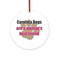Carolina Dogs woman's best friend Ornament (Round)