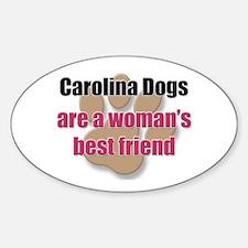 Carolina Dogs woman's best friend Oval Decal