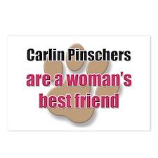 Carlin Pinschers woman's best friend Postcards (Pa