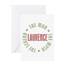 Laurence Man Myth Legend Greeting Card