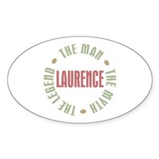 Laurence Man Myth Legend Oval Decal