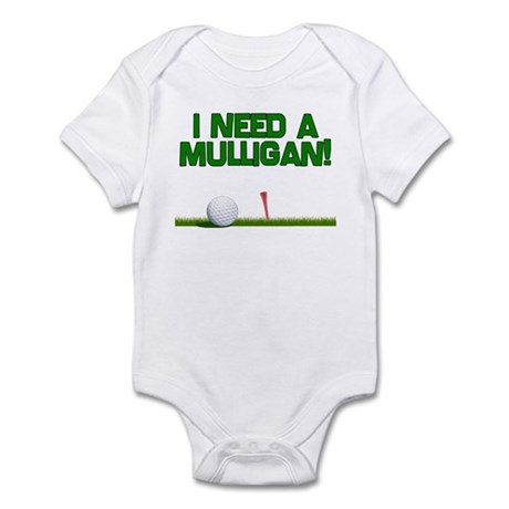 I Need a Mulligan! Funny Golf Infant Bodysuit