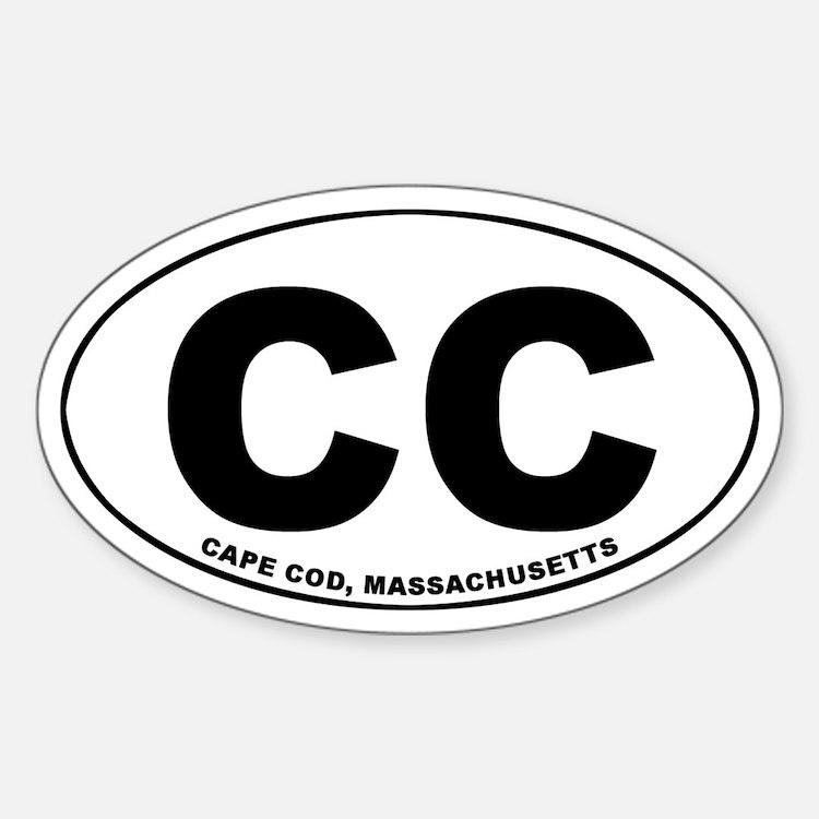 Cape Cod, MA Oval Decal