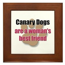 Canary Dogs woman's best friend Framed Tile