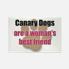 Canary Dogs woman's best friend Rectangle Magnet (