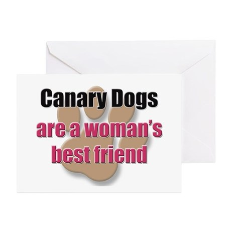 Canary Dogs woman's best friend Greeting Cards (Pk