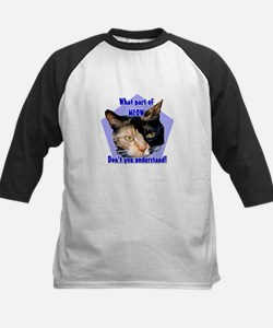 What part of meow ! Calico ca Kids Baseball Jersey