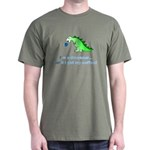 I'M A DINOSAUR WITHOUT COFFEE! Dark T-Shirt