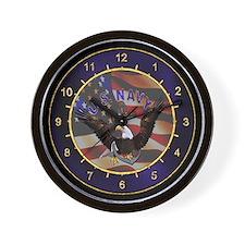 US Navy Anchor & Eagle Wall Clock