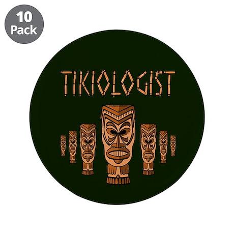 """Tikiologist Dark 3.5"""" Button (10 pack)"""