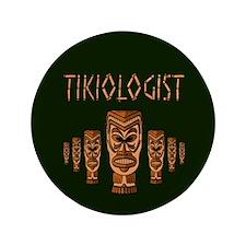 """Tikiologist Dark 3.5"""" Button"""