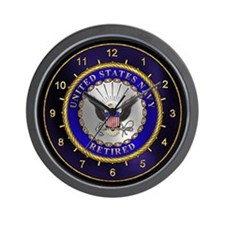 US Navy Retired Wall Clock