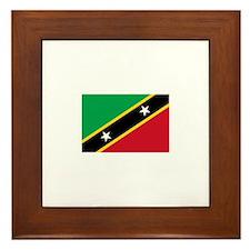 Saint Kitts and Nevis Framed Tile