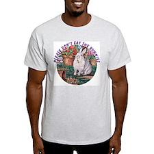 Dittle rabbit: Please Don't Eat.. Ash Grey T-Shirt