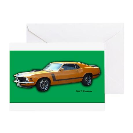 Boss 302 Mustang Vintage Stre Greeting Card