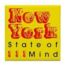 New York State Of Mind Tile Coaster