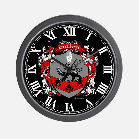Cullen Family Crest Wall Clock