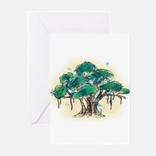 Cute Tree yoga Greeting Cards (Pk of 10)