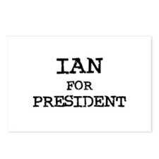 Ian for President Postcards (Package of 8)