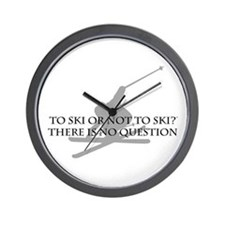 To Ski Or Not To Ski Wall Clock
