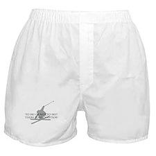 To Ski Or Not To Ski Boxer Shorts
