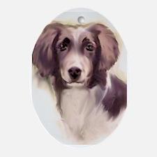 Small Munsterlander Portrait Oval Ornament