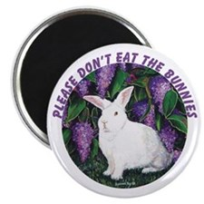 Punch the bunny: Please don't eat.. Magnet