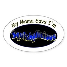 Squishy Mama Oval Decal