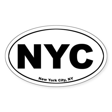 New york city nyc oval stickers by castahex - Stickers geant new york ...