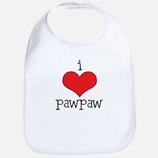 I Love Paw Paw Bib