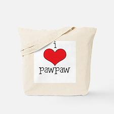 I Love Paw Paw Tote Bag