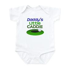 Daddy's Little Caddie Funny Golf Infant Bodysuit