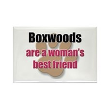 Boxwoods woman's best friend Rectangle Magnet