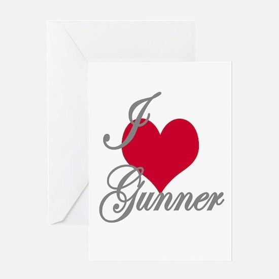 I love (heart) Gunner Greeting Card