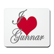 I love (heart) Gunnar Mousepad