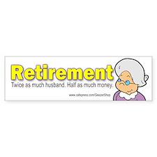 Retirement (Bumper Sticker)