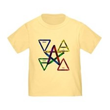 Crayon Element Pentacle Toddler Tee