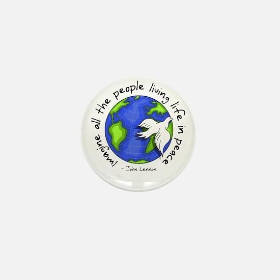 Imagine - World - Living In P Mini Button