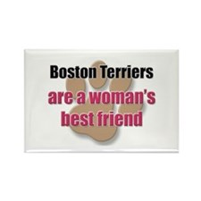 Boston Terriers woman's best friend Rectangle Magn