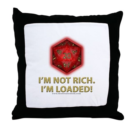 Loaded D20 (Red) Throw Pillow